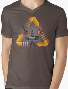 Through time Mens V-Neck T-Shirt