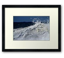 Wave Explosion Framed Print