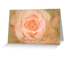 """Romantic Rose """"Thinking of You"""" text card Greeting Card"""
