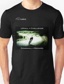 Cycling T Shirt - Uphill - Downhill T-Shirt