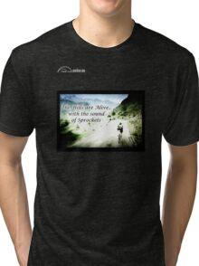 Cycling T Shirt - Hills are Alive Tri-blend T-Shirt