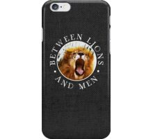 BL&M - Lion Crest (White) iPhone Case/Skin