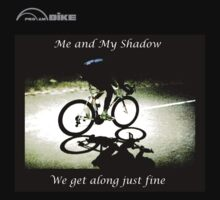 Cycling T Shirt - Me and My Shadow by ProAmBike