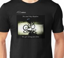 Cycling T Shirt - Me and My Shadow Unisex T-Shirt