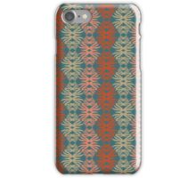 Shaggy Zaggy - Gray & Coral iPhone Case/Skin