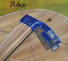 Adze Old Tool of a Woodworker by BAR-ART