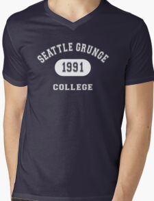 Grunge College Mens V-Neck T-Shirt