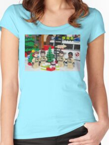 Ghostbuster Christmas Tree  Women's Fitted Scoop T-Shirt