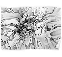 Sub-Atomic Stress Release Therapy - Watercolor Painting - Black and White Poster
