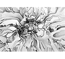 Sub-Atomic Stress Release Therapy - Watercolor Painting - Black and White Photographic Print