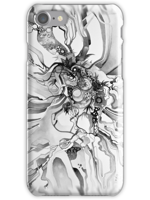 Sub-Atomic Stress Release Therapy - Watercolor Painting - Black and White by jeffjag