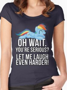 You're Serious?  (My Little Pony: Friendship is Magic) Women's Fitted Scoop T-Shirt