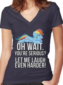 You're Serious?  (My Little Pony: Friendship is Magic) Women's Fitted V-Neck T-Shirt