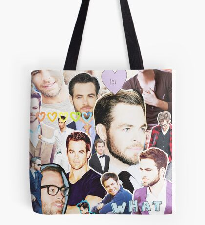 chris pine collage Tote Bag