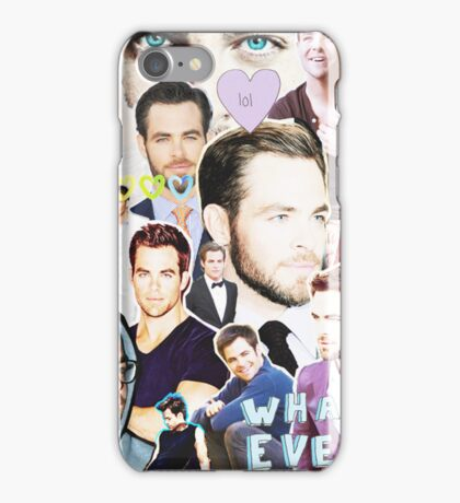 chris pine collage iPhone Case/Skin