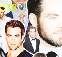 chris pine collage Sticker