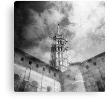 Les nuages et la basilique Canvas Print