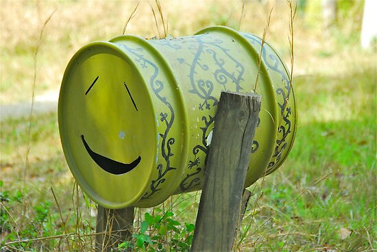 Smiley Face Mailbox by Penny Smith
