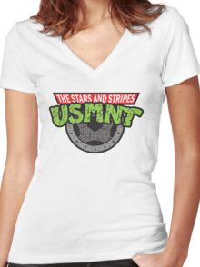 A Fearsome Soccer Team Women's Fitted V-Neck T-Shirt
