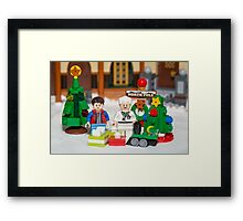 Mcfly Brown Xmas Framed Print