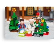 Mcfly Brown Xmas Canvas Print