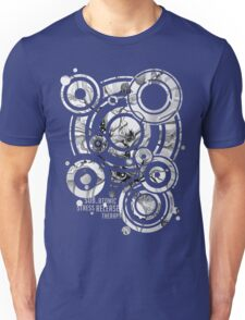 Sub-Atomic Stress Release Therapy - Watercolor Painting - Black and White T-Shirt