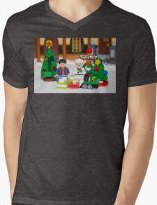Mcfly Brown Xmas Mens V-Neck T-Shirt