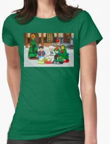 Mcfly Brown Xmas Womens Fitted T-Shirt