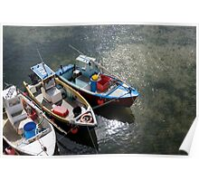 three fishing boats Poster