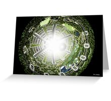 Kalpana space station section Greeting Card
