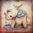 Little Diana the Vintage Elephant Princess by © Karin (Cassidy) Taylor