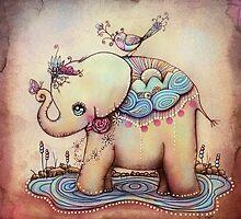 Little Diana the Vintage Elephant Princess by © Karin  Taylor