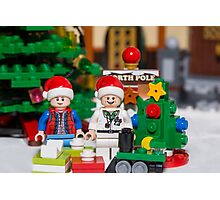 Doc and Marty North Pole Photographic Print