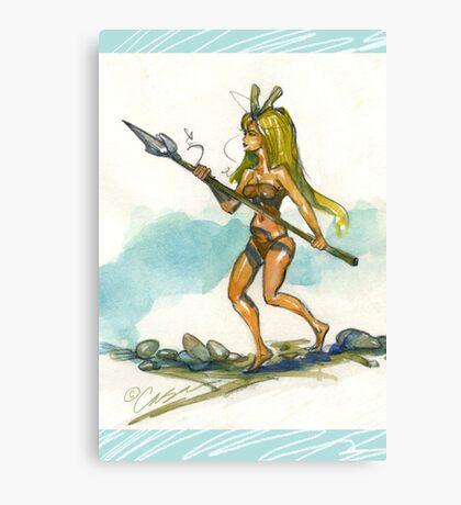 Spear It Canvas Print