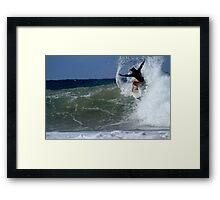 Woman Surfing Snapper Rocks 04.09.2013 Framed Print
