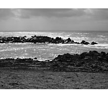 waves and sun Photographic Print