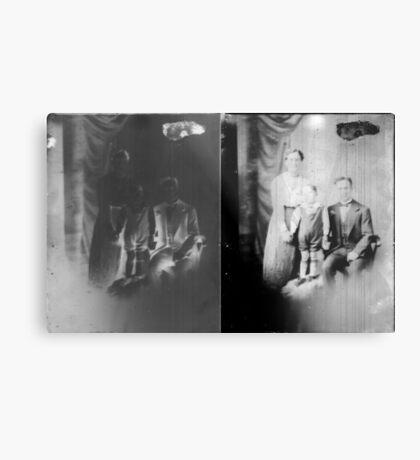 Glass negative family portrait Metal Print