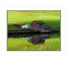 Serenity Fjord Reflections Art Print