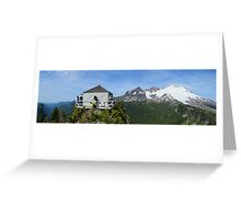 Park Butte Lookout Panorama Greeting Card