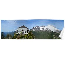 Park Butte Lookout Panorama Poster