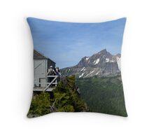 Park Butte Lookout Panorama Throw Pillow