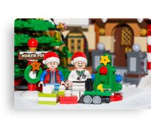 North Pole with Marty and Dov Canvas Print