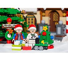 North Pole with Marty and Dov Photographic Print