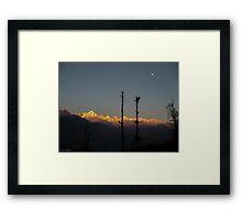 Burning Peaks Framed Print