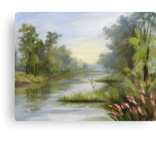 Fog River Canvas Print