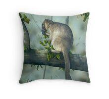 Aust. Tree Kangarro Throw Pillow