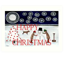 HAPPY CHRISTMAS 29 Art Print