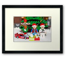 Marty and Doc get gifts Framed Print