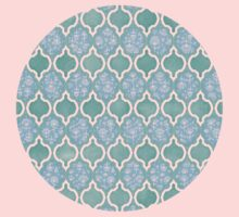Moroccan Aqua Doodle pattern in mint green, blue & white Kids Clothes