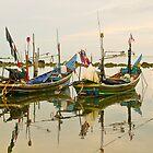 Thai Fishing Boats by Robert Sturman